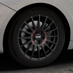 OZ RACING SUPERTURISMO GT MATT BLACK Felge mit Reifen schwarz in 17Zoll Winterfelge Alufelge auf silbernem DS Automobiles DS5 Typ K Facelift ⬇️ mit 15mm Tieferlegung ⬇️ Industriehalle 1 Thumbnail