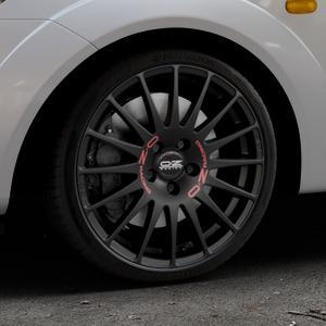 OZ RACING SUPERTURISMO GT MATT BLACK Felge mit Reifen schwarz in 17Zoll Winterfelge Alufelge auf silbernem Ford Fiesta V Typ JH1/JD3 ⬇️ mit 15mm Tieferlegung ⬇️ Industriehalle 1 Thumbnail