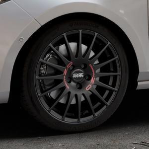 OZ RACING SUPERTURISMO GT MATT BLACK Felge mit Reifen schwarz in 17Zoll Winterfelge Alufelge auf silbernem Ford Fiesta VII Typ JHH ⬇️ mit 15mm Tieferlegung ⬇️ Industriehalle 1 Thumbnail