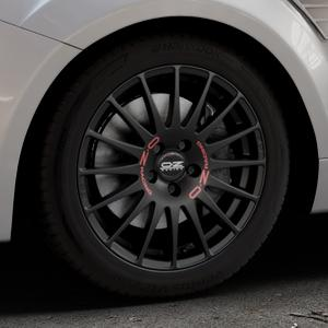 OZ RACING SUPERTURISMO GT MATT BLACK Felge mit Reifen schwarz in 17Zoll Winterfelge Alufelge auf silbernem Ford Focus II Typ DA3 (Schrägheck) 2,5l RS 224kW (305 PS) RS500 257kW (349 ⬇️ mit 15mm Tieferlegung ⬇️ Industriehalle 1 Thumbnail