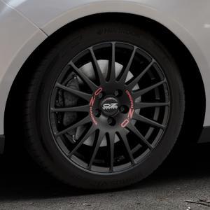OZ RACING SUPERTURISMO GT MATT BLACK Felge mit Reifen schwarz in 17Zoll Winterfelge Alufelge auf silbernem Ford Focus III Typ DYB Facelift (Turnier) ⬇️ mit 15mm Tieferlegung ⬇️ Industriehalle 1 Thumbnail