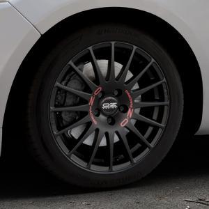 OZ RACING SUPERTURISMO GT MATT BLACK Felge mit Reifen schwarz in 17Zoll Winterfelge Alufelge auf silbernem Ford Mondeo IV Limousine Typ BA7 Turnier Fließheck ⬇️ mit 15mm Tieferlegung ⬇️ Industriehalle 1 Thumbnail