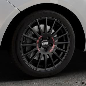 OZ RACING SUPERTURISMO GT MATT BLACK Felge mit Reifen schwarz in 17Zoll Winterfelge Alufelge auf silbernem Hyundai ix20 Typ JC ⬇️ mit 15mm Tieferlegung ⬇️ Industriehalle 1 Thumbnail