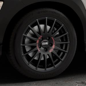 OZ RACING SUPERTURISMO GT MATT BLACK Felge mit Reifen schwarz in 17Zoll Winterfelge Alufelge auf silbernem Hyundai Kona Typ OS ⬇️ mit 15mm Tieferlegung ⬇️ Industriehalle 1 Thumbnail