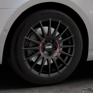 OZ RACING SUPERTURISMO GT MATT BLACK Felge mit Reifen schwarz in 17Zoll Winterfelge Alufelge auf silbernem Skoda Octavia III Kombi Typ 5E ⬇️ mit 15mm Tieferlegung ⬇️ Industriehalle 1 Thumbnail