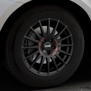 OZ RACING SUPERTURISMO GT MATT BLACK Felge mit Reifen schwarz in 17Zoll Winterfelge Alufelge auf silbernem Volvo XC60 Typ D Facelift ⬇️ mit 15mm Tieferlegung ⬇️ Industriehalle 1 Thumbnail