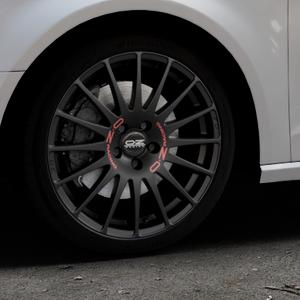 OZ RACING SUPERTURISMO GT MATT BLACK Felge mit Reifen schwarz in 18Zoll Winterfelge Alufelge auf silbernem Audi A3 Typ 8V ⬇️ mit 15mm Tieferlegung ⬇️ Industriehalle 1 Thumbnail