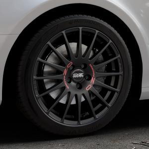 OZ RACING SUPERTURISMO GT MATT BLACK Felge mit Reifen schwarz in 18Zoll Winterfelge Alufelge auf silbernem Audi A4 Typ 8K2/B8 (Limousine) ⬇️ mit 15mm Tieferlegung ⬇️ Industriehalle 1 Thumbnail