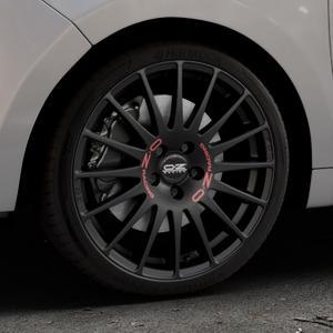 OZ RACING SUPERTURISMO GT MATT BLACK Felge mit Reifen schwarz in 18Zoll Winterfelge Alufelge auf silbernem Citroen C3 Picasso ⬇️ mit 15mm Tieferlegung ⬇️ Industriehalle 1 Thumbnail