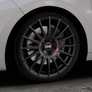 OZ RACING SUPERTURISMO GT MATT BLACK Felge mit Reifen schwarz in 18Zoll Winterfelge Alufelge auf silbernem Peugeot 208 Typ C ⬇️ mit 15mm Tieferlegung ⬇️ Industriehalle 1 Thumbnail