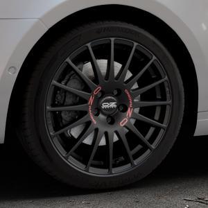 OZ RACING SUPERTURISMO GT MATT BLACK Felge mit Reifen schwarz in 18Zoll Winterfelge Alufelge auf silbernem Skoda Octavia III Kombi Typ 5E ⬇️ mit 15mm Tieferlegung ⬇️ Industriehalle 1 Thumbnail