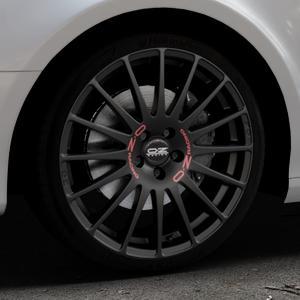 OZ RACING SUPERTURISMO GT MATT BLACK Felge mit Reifen schwarz in 19Zoll Winterfelge Alufelge auf silbernem Audi A4 Typ 8K5/B8 (Avant) ⬇️ mit 15mm Tieferlegung ⬇️ Industriehalle 1 Thumbnail
