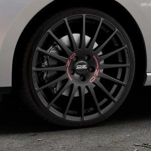 OZ RACING SUPERTURISMO GT MATT BLACK Felge mit Reifen schwarz in 19Zoll Winterfelge Alufelge auf silbernem Seat Leon Typ 5F ST Facelift ⬇️ mit 15mm Tieferlegung ⬇️ Industriehalle 1 Thumbnail