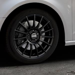 OZ RACING SUPERTURISMO LM MATT BLACK+SILVER LETTERING Felge mit Reifen schwarz in 17Zoll Winterfelge Alufelge auf silbernem Audi A3 Typ 8V ⬇️ mit 15mm Tieferlegung ⬇️ Industriehalle 1 Thumbnail