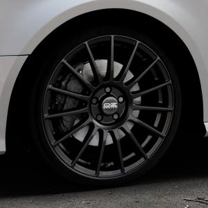 OZ RACING SUPERTURISMO LM MATT BLACK+SILVER LETTERING Felge mit Reifen schwarz in 19Zoll Winterfelge Alufelge auf silbernem Audi A3 Typ 8V Facelift ⬇️ mit 15mm Tieferlegung ⬇️ Industriehalle 1 Thumbnail