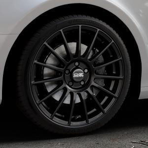 OZ RACING SUPERTURISMO LM MATT BLACK+SILVER LETTERING Felge mit Reifen schwarz in 19Zoll Winterfelge Alufelge auf silbernem Audi A4 Typ 8K2/B8 (Limousine) ⬇️ mit 15mm Tieferlegung ⬇️ Industriehalle 1 Thumbnail