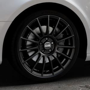 OZ RACING SUPERTURISMO LM MATT BLACK+SILVER LETTERING Felge mit Reifen schwarz in 19Zoll Winterfelge Alufelge auf silbernem Audi A4 Typ 8K5/B8 (Avant) ⬇️ mit 15mm Tieferlegung ⬇️ Industriehalle 1 Thumbnail