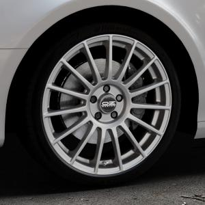 OZ RACING SUPERTURISMO LM MATT RACE SILVER + BLACK LETTERING Felge mit Reifen silber in 19Zoll Winterfelge Alufelge auf silbernem Audi A4 Typ 8K5/B8 (Avant) ⬇️ mit 15mm Tieferlegung ⬇️ Industriehalle 1 Thumbnail
