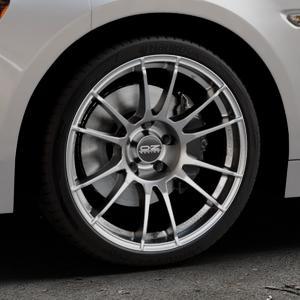 OZ RACING ULTRALEGGERA CRYSTAL TITANIUM Felge mit Reifen grau in 18Zoll Winterfelge Alufelge auf silbernem Fiat 124 Spider Typ NF ⬇️ mit 15mm Tieferlegung ⬇️ Industriehalle 1 Thumbnail