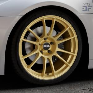 OZ RACING ULTRALEGGERA HLT RACE GOLD Felge mit Reifen in 19Zoll Winterfelge Alufelge auf silbernem Audi R8 Typ 4S 15-> Spyder 16-> ⬇️ mit 15mm Tieferlegung ⬇️ Industriehalle 1 Thumbnail