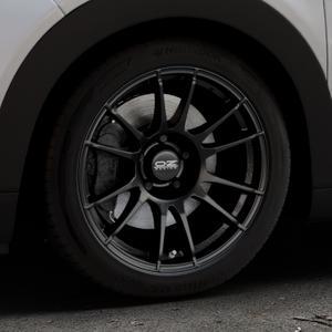 OZ RACING ULTRALEGGERA MATT BLACK Felge mit Reifen schwarz in 17Zoll Winterfelge Alufelge auf silbernem Citroen C4 Cactus Typ 0 ⬇️ mit 15mm Tieferlegung ⬇️ Industriehalle 1 Thumbnail