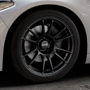 OZ RACING ULTRALEGGERA MATT BLACK Felge mit Reifen schwarz in 18Zoll Winterfelge Alufelge auf silbernem Alfa Romeo Giulia Typ 952 ⬇️ mit 15mm Tieferlegung ⬇️ Industriehalle 1 Thumbnail