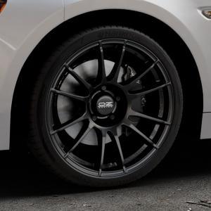 OZ RACING ULTRALEGGERA MATT BLACK Felge mit Reifen schwarz in 18Zoll Winterfelge Alufelge auf silbernem Fiat 124 Spider Typ NF ⬇️ mit 15mm Tieferlegung ⬇️ Industriehalle 1 Thumbnail