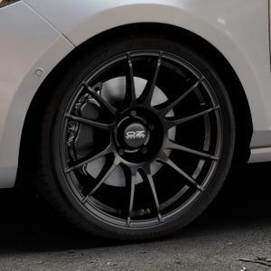 OZ RACING ULTRALEGGERA MATT BLACK Felge mit Reifen schwarz in 18Zoll Winterfelge Alufelge auf silbernem Ford Fiesta VII Typ JHH ⬇️ mit 15mm Tieferlegung ⬇️ Industriehalle 1 Thumbnail