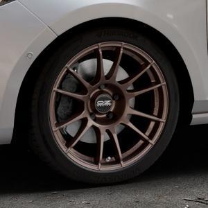 OZ RACING ULTRALEGGERA MATT BRONZE Felge mit Reifen in 17Zoll Winterfelge Alufelge auf silbernem Ford Fiesta VII Typ JHH ⬇️ mit 15mm Tieferlegung ⬇️ Industriehalle 1 Thumbnail
