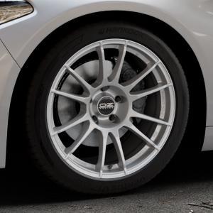 OZ RACING ULTRALEGGERA MATT GRAPHITE Felge mit Reifen grau in 18Zoll Winterfelge Alufelge auf silbernem Alfa Romeo Giulia Typ 952 ⬇️ mit 15mm Tieferlegung ⬇️ Industriehalle 1 Thumbnail