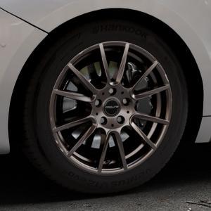 ProLine Wheels PXF matt bronze Felge mit Reifen in 17Zoll Winterfelge Alufelge auf silbernem DS Automobiles DS5 Typ K Facelift ⬇️ mit 15mm Tieferlegung ⬇️ Industriehalle 1 Thumbnail