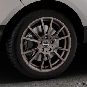 ProLine Wheels PXF matt bronze Felge mit Reifen in 17Zoll Winterfelge Alufelge auf silbernem Ford EcoSport Typ JK8 Facelift ⬇️ mit 15mm Tieferlegung ⬇️ Industriehalle 1 Thumbnail