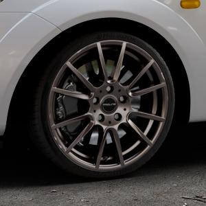 ProLine Wheels PXF matt bronze Felge mit Reifen in 17Zoll Winterfelge Alufelge auf silbernem Ford Fiesta V Typ JH1/JD3 ⬇️ mit 15mm Tieferlegung ⬇️ Industriehalle 1 Thumbnail