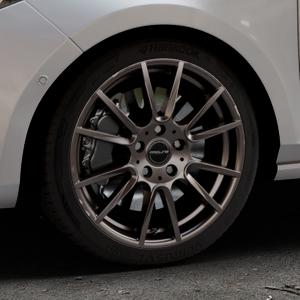 ProLine Wheels PXF matt bronze Felge mit Reifen in 17Zoll Winterfelge Alufelge auf silbernem Ford Fiesta VII Typ JHH ⬇️ mit 15mm Tieferlegung ⬇️ Industriehalle 1 Thumbnail