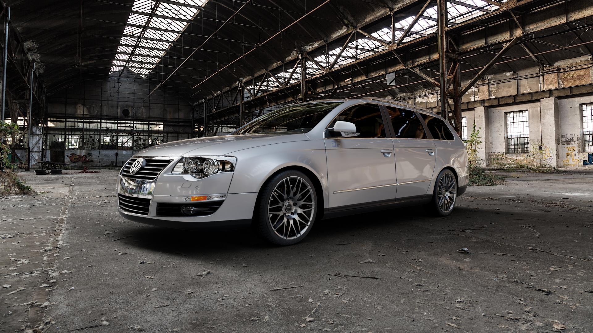 ProLine Wheels PXK Matt Grey Felge mit Reifen grau in 18Zoll Winterfelge Alufelge auf silbernem Volkswagen (VW) Passat 3C/B6 Variant ⬇️ mit 15mm Tieferlegung ⬇️ Industriehalle 1 Camera_000
