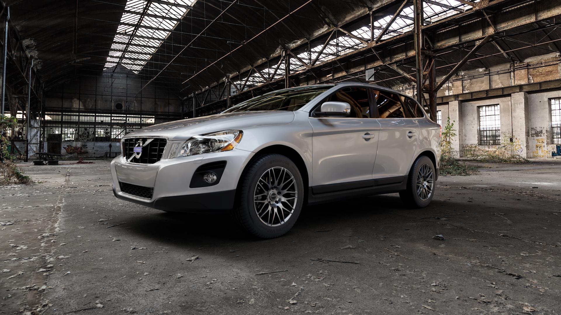 ProLine Wheels PXK Matt Grey Felge mit Reifen grau in 18Zoll Winterfelge Alufelge auf silbernem Volvo XC60 Typ D ⬇️ mit 15mm Tieferlegung ⬇️ Industriehalle 1 Camera_000