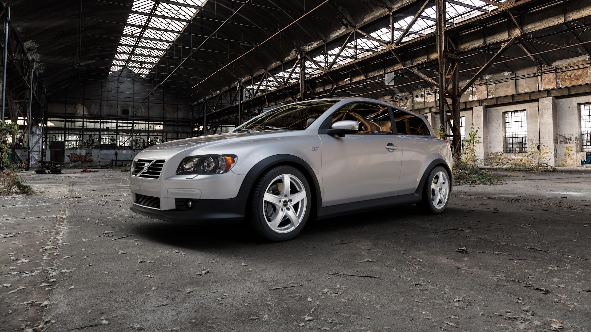 ProLine Wheels SX100 Metallic Silver Felge mit Reifen silber in 17Zoll Winterfelge Alufelge auf silbernem Volvo C30 ⬇️ mit 15mm Tieferlegung ⬇️ Industriehalle 1 Camera_000