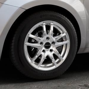 ProLine Wheels VX100 arctic silver Felge mit Reifen silber in 15Zoll Winterfelge Alufelge auf silbernem Alfa Romeo Mito Typ 955 ⬇️ mit 15mm Tieferlegung ⬇️ Industriehalle 1 Thumbnail