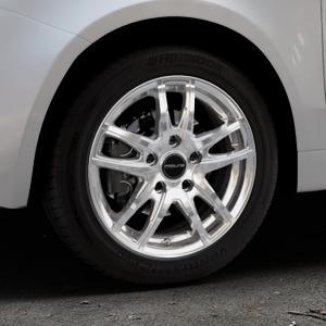 ProLine Wheels VX100 arctic silver Felge mit Reifen silber in 15Zoll Winterfelge Alufelge auf silbernem Fiat 500 Typ 312 Cabrio Facelift ⬇️ mit 15mm Tieferlegung ⬇️ Industriehalle 1 Thumbnail
