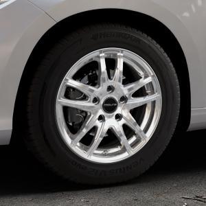ProLine Wheels VX100 arctic silver Felge mit Reifen silber in 15Zoll Winterfelge Alufelge auf silbernem Fiat Tipo II Limousine Typ 356 ⬇️ mit 15mm Tieferlegung ⬇️ Industriehalle 1 Thumbnail