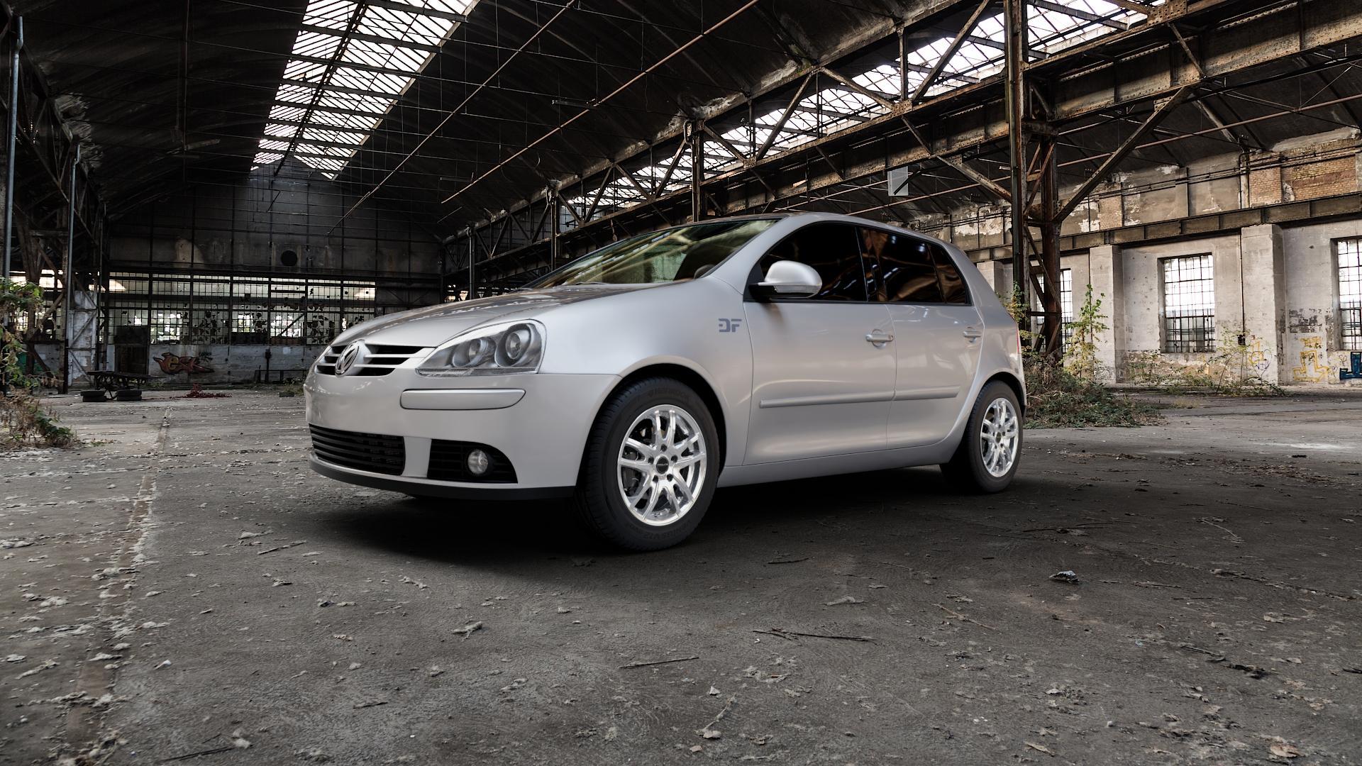 ProLine Wheels VX100 Arctic Silver Felge mit Reifen silber in 15Zoll Winterfelge Alufelge auf silbernem Volkswagen (VW) Golf 5 Plus ⬇️ mit 15mm Tieferlegung ⬇️ Industriehalle 1 Camera_000