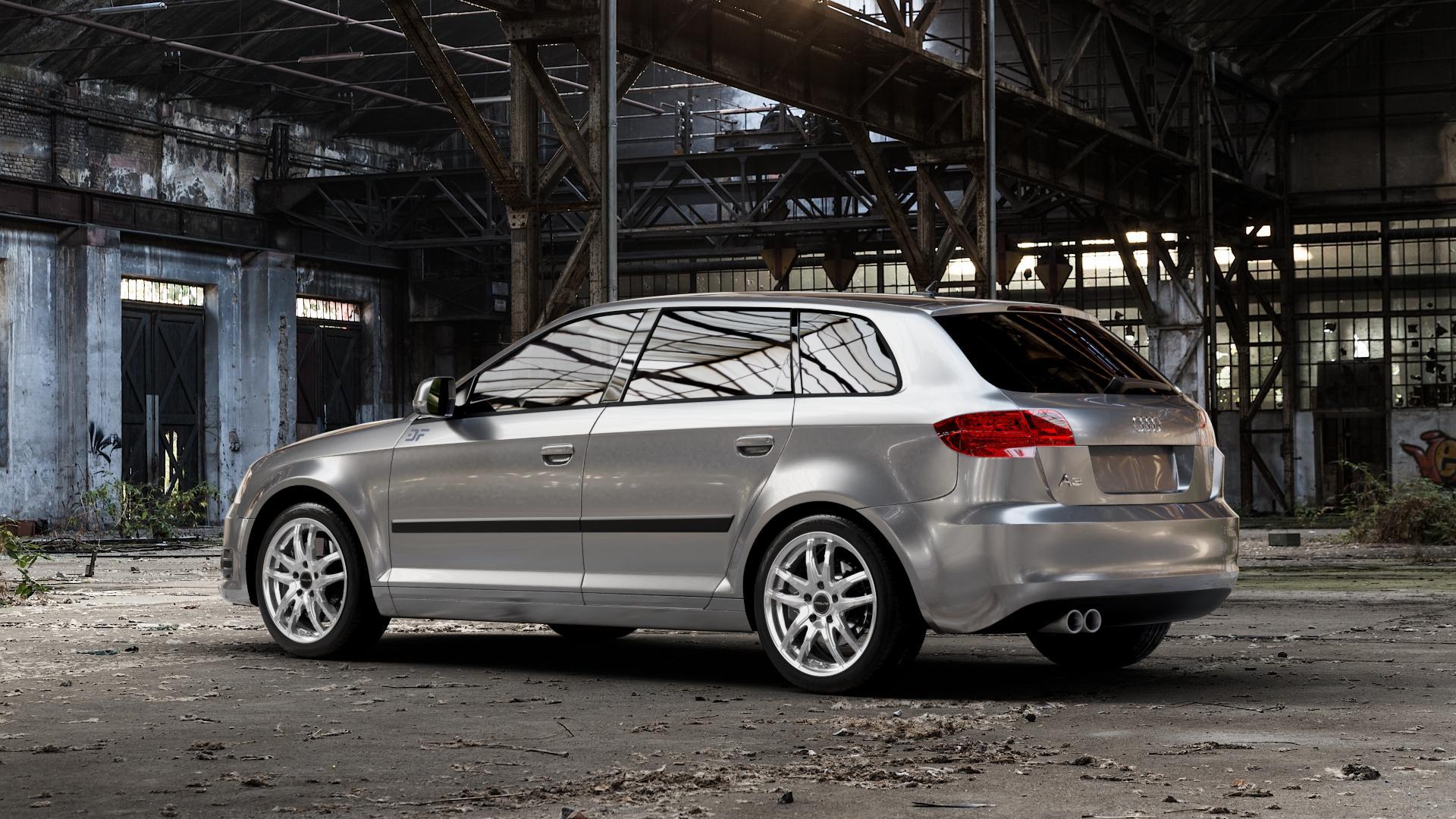 ProLine Wheels VX100 Arctic Silver Felge mit Reifen silber in 17Zoll Winterfelge Alufelge auf silbernem Audi A3 Typ 8P (Sportback) 1,6l 75kW (102 PS) 2,0l FSI 110kW (150 1,9l TDI 77kW (105 103kW (140 TFSI 147kW (200 85kW (116 100kW (136 1,8l 118kW (160 125kW (170 1,4l 92kW (125 120kW (163 quattro 3,2l V6 184kW (250 S3 195kW (265 1,2l 66kW (90
