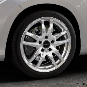 ProLine Wheels VX100 arctic silver Felge mit Reifen silber in 17Zoll Winterfelge Alufelge auf silbernem Fiat Tipo II Limousine Typ 356 ⬇️ mit 15mm Tieferlegung ⬇️ Industriehalle 1 Thumbnail