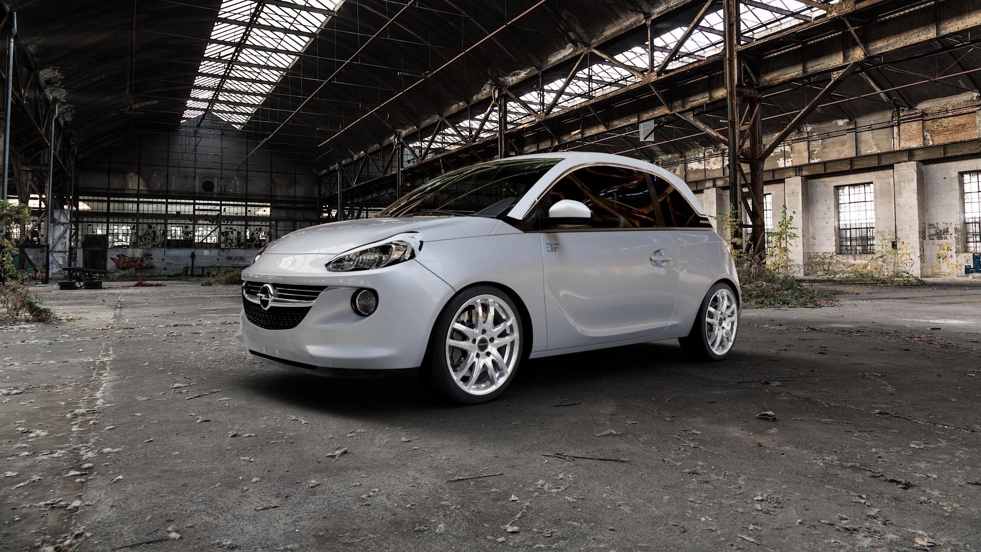 ProLine Wheels VX100 Arctic Silver Felge mit Reifen silber in 17Zoll Winterfelge Alufelge auf silbernem Opel Adam ⬇️ mit 15mm Tieferlegung ⬇️ Industriehalle 1 Camera_000