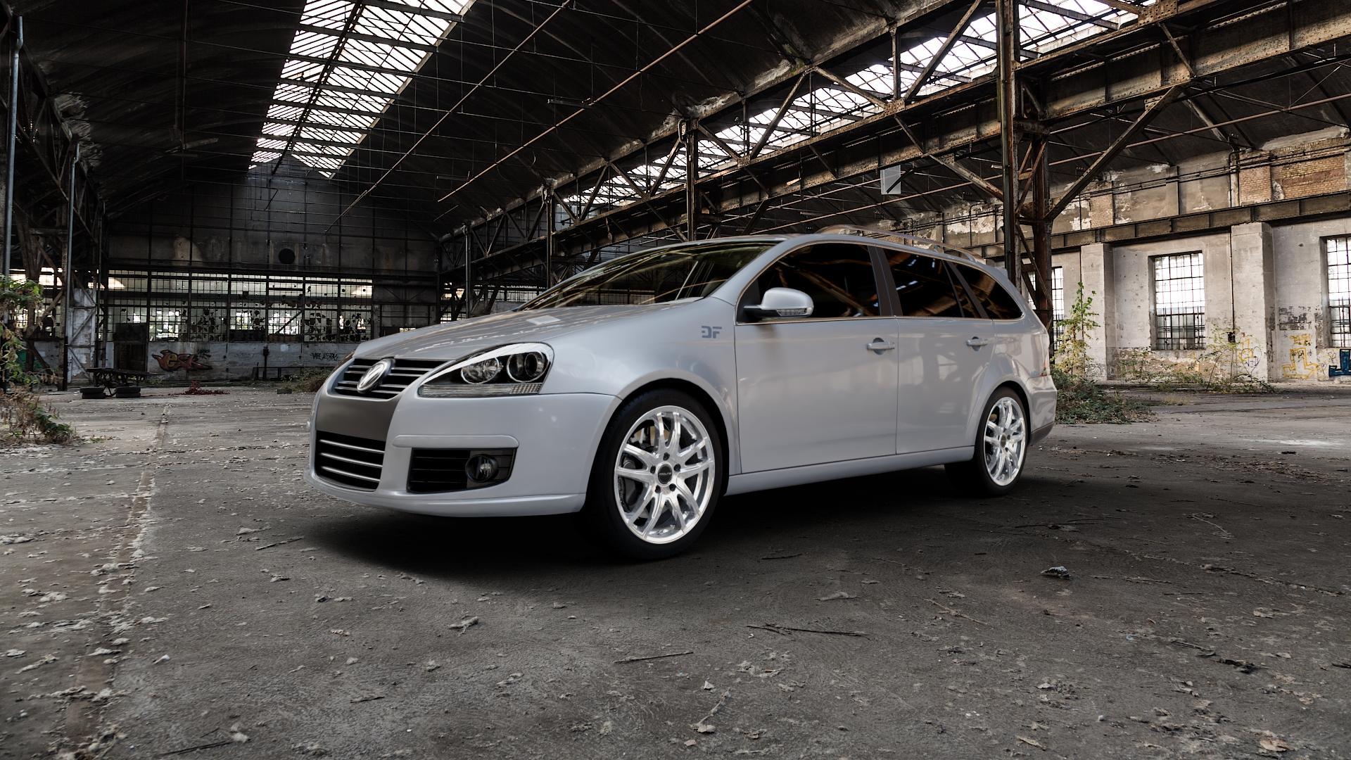 ProLine Wheels VX100 Arctic Silver Felge mit Reifen silber in 17Zoll Winterfelge Alufelge auf silbernem Volkswagen (VW) Golf 5 Variant ⬇️ mit 15mm Tieferlegung ⬇️ Industriehalle 1 Camera_000