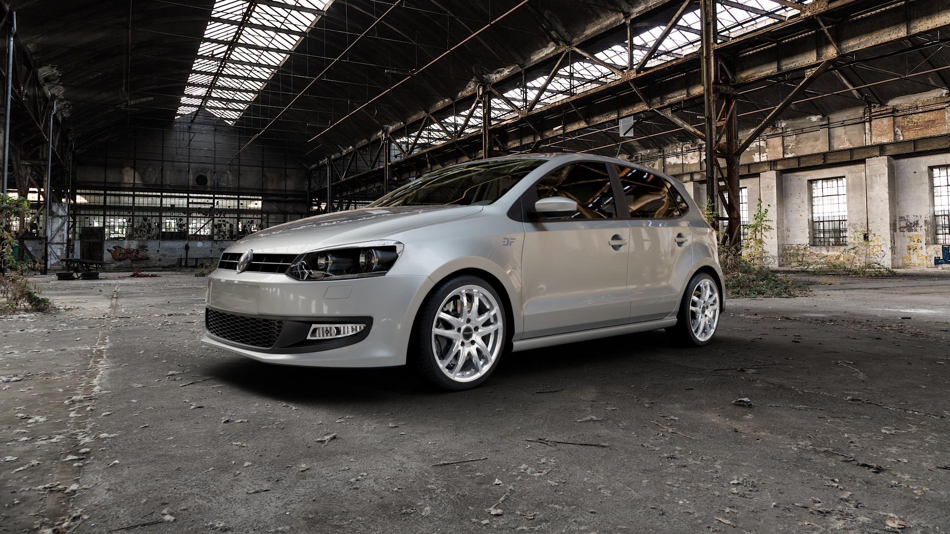 ProLine Wheels VX100 Arctic Silver Felge mit Reifen silber in 17Zoll Winterfelge Alufelge auf silbernem Volkswagen (VW) Polo V Typ 6R ⬇️ mit 15mm Tieferlegung ⬇️ Industriehalle 1 Camera_000