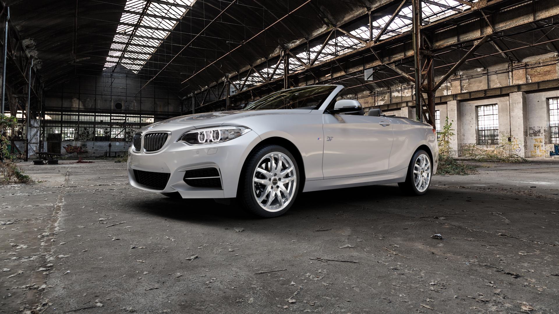 ProLine Wheels VX100 Arctic Silver Felge mit Reifen silber in 18Zoll Winterfelge Alufelge auf silbernem BMW 220d Typ F23 (Cabrio) 2,0l 140kW (190 PS) 220i 135kW (184 228i 180kW (245 2 M235i 3,0l 240kW (326 218i 1,5l 100kW (136 xDrive 225d 165kW (224 218d 110kW (150 M240i 250kW (340 230i 185kW (252 120kW (163 151kW (205 ⬇️ mit 15mm Tieferlegung