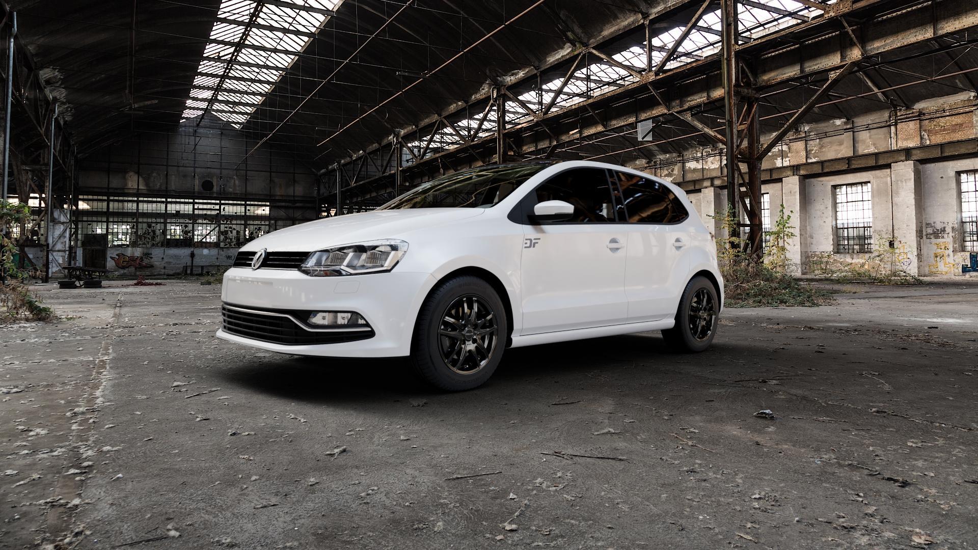 ProLine Wheels VX100 Black Matt Felge mit Reifen schwarz in 14Zoll Winterfelge Alufelge auf weissem Volkswagen (VW) Polo V Typ 6C 1,0l 44kW (60 PS) 55kW (75 1,2l TSI 66kW (90 81kW (110 1,4l TDI 77kW (105 110kW (150 70kW (95 ⬇️ mit 15mm Tieferlegung ⬇️ Industriehalle 1 Camera_000