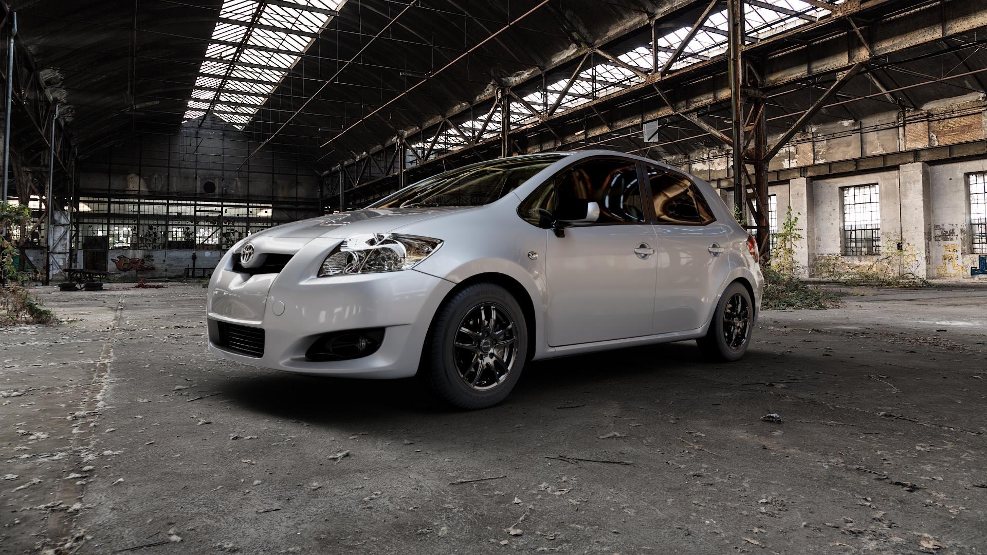 ProLine Wheels VX100 Black Matt Felge mit Reifen schwarz in 15Zoll Winterfelge Alufelge auf silbernem Toyota Auris (07-12) ⬇️ mit 15mm Tieferlegung ⬇️ Industriehalle 1 Camera_000