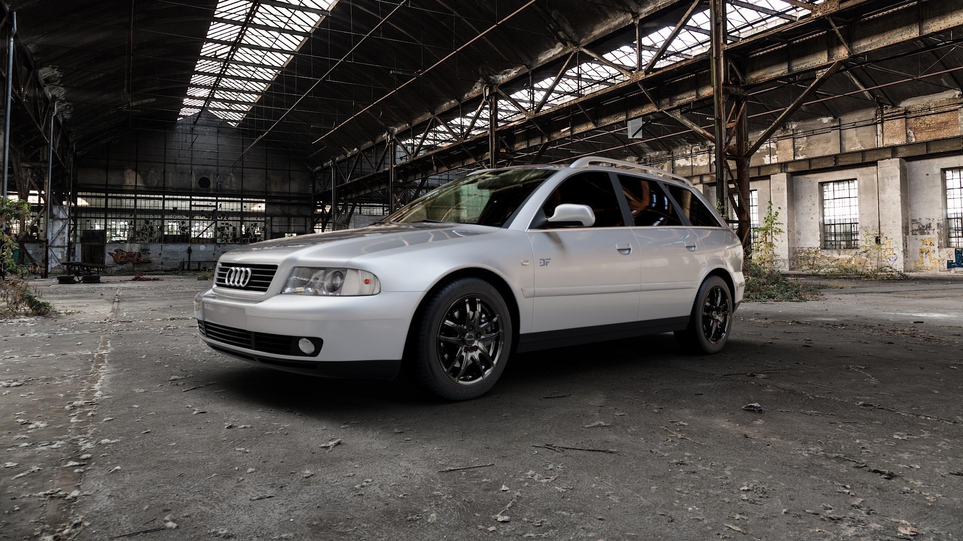 ProLine Wheels VX100 Black Matt Felge mit Reifen schwarz in 16Zoll Winterfelge Alufelge auf silbernem Audi A4 Typ 8D5/B5 (Avant) ⬇️ mit 15mm Tieferlegung ⬇️ Industriehalle 1 Camera_000